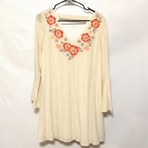 Altar'd State cream boho open back embroidered